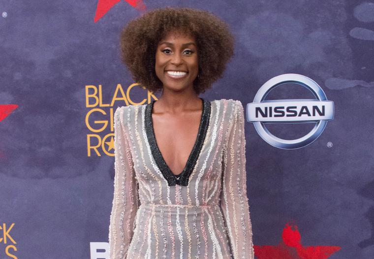 Issa Rae at BET's Black Girls Rock show.